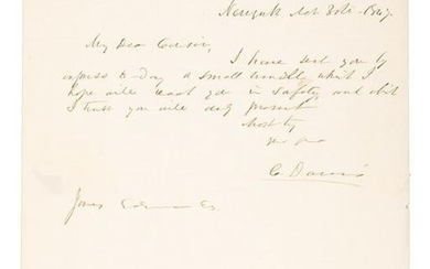 1847 Letter from West Point Prof. writer of