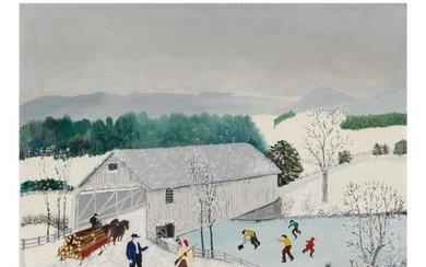 ANNA MARY ROBERTSON (GRANDMA) MOSES | COVERED BRIDGE
