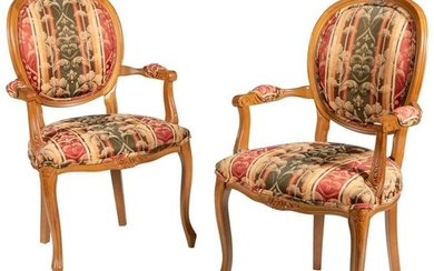 French Style Arm Chairs - Pair