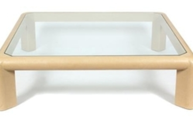 A Karl Springer Style Coffee Table