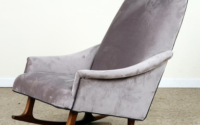 MID CENTURY MODERN UPHOLSTERED ROCKING CHAIR 1960