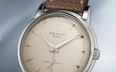 Patek Philippe, Ref. 2525/1 An incredibly well-preserved and extremely rare white gold wristwatch with fluted lugs