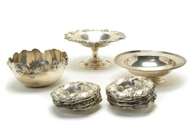 Sterling Silver Bowls and Finger Bowls, Tiffany and