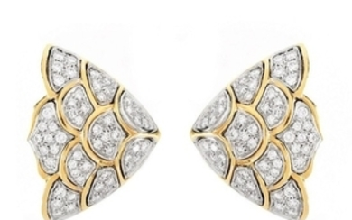 Vintage Diamond and 18K Earrings