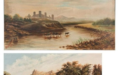 2 19th Cent. Landscape Paintings, oil on board