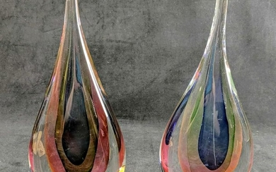 Vintage Hand Blown MURANO Style Teardrop Sculpture