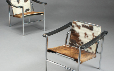Le Corbusier. A pair of lounge chairs, model LC1 (2)