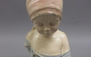 After Alfred Bertram Pegram RBS, small painted plaster bust ...