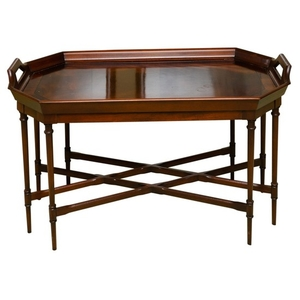 Super Lot Art Tray Top Mahogany And Walnut Coffee Table By Gmtry Best Dining Table And Chair Ideas Images Gmtryco
