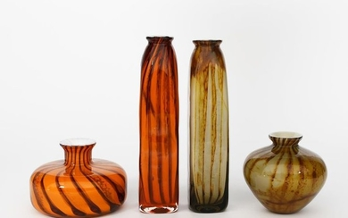 A Whitefriars Studio Range glass vase by Peter Whe…