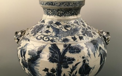 Chinese Blue-White Figure Jar