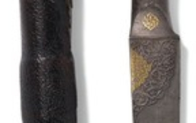 A FINE SAFAVID WATERED-STEEL DAGGER (KARD) WITH WALRUS IVORY HILT DEDICATED TO SHAH SULEYMAN (R.1666-94), PERSIA, 17TH CENTURY