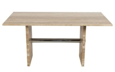 Travertine Marble Center Table