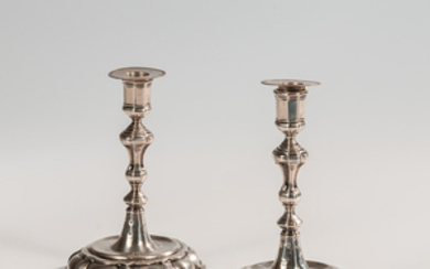 Pair of German Silver Candlesticks