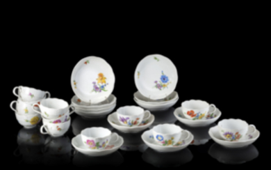 Meissen manufacture, late 19th century. A group of twelve...