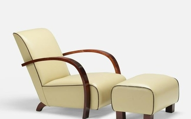 Pierre Counot Blandin, lounge chair and ottoman