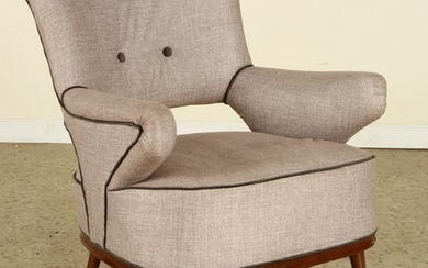 MID CENTURY MODERN ITALIAN UPHOLSTERED CLUB CHAIR