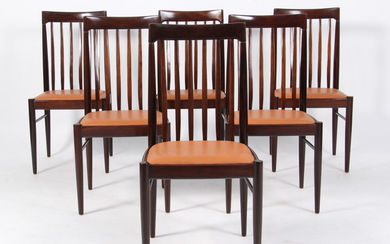 H. W. Klein for Bramin Møbler. Six dining table chairs, mahogany. (6)