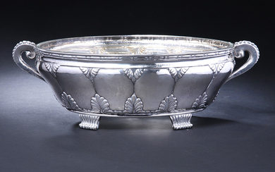 Royal Court Supplier P. Hertz. Silver fruit bowl with glass insert, 1920