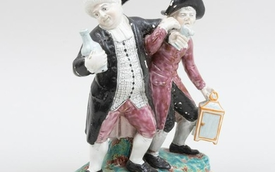 Staffordshire Pearlware Group of the Vicar and Moses