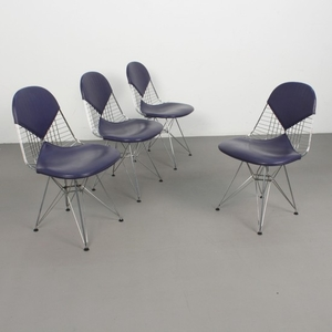Charles & Ray Eames, a set of chairs, model 'Wire Chair DKR 2' by Vitra (4)