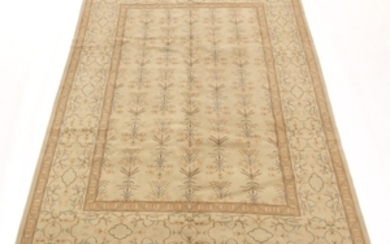 Hand-Knotted Oushak Carpet
