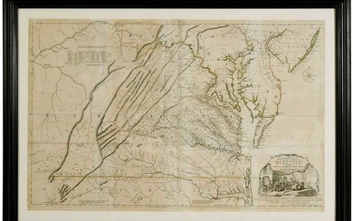 Fry & Jefferson Map of Virginia