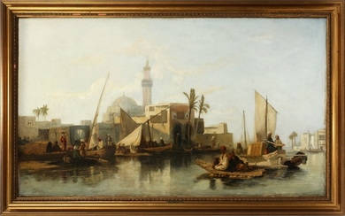STYLE OF WILLIAM JAMES MULLER BRITISH 1812 1845 OIL ON CANVAS 32 53 AFTERNOON IN LYCIA