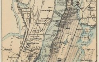 """""""The Hudson by Daylight Map from New York Bay to the Head of Tide Water..."""", Bruce, Wallace"""