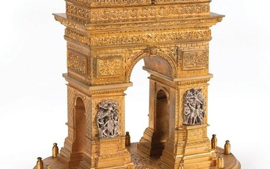 Grand Tour Gilt Bronze Arc de Triomphe