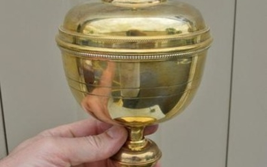 Nice Antique Gold Plated Ciborium Sterling Silver Cup +