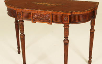 ADAMS STYLE MAHOGANY CONSOLE TABLE BY THEODORE ALEXANDER