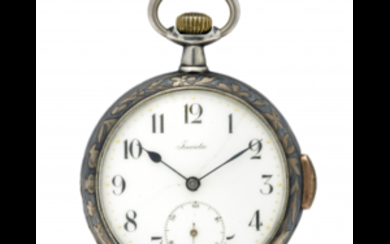 INVICTA Gent's silver pocket watch Late XIX/early XX century...