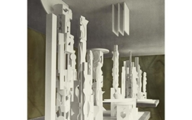 """LOUISE NEVELSON (american, 1899–1988) """"BICENTENNIAL DAWN"""" 1976, signed and..."""