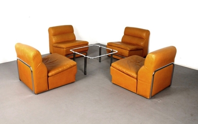 Hörst Brüning lounge suite / modular seating with side table for Kill