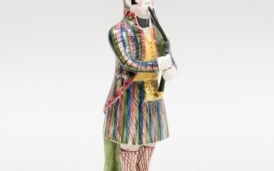Staffordshire Pearlware Figure of a Bagpiper