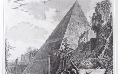Piranesi, Giovanni: THE PYRAMID OF CAIUS CESTIUS, Year 1756.