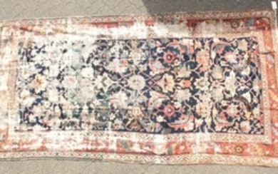 A LARGE PERSIAN MAHAL CARPET with some wear. 11ft x