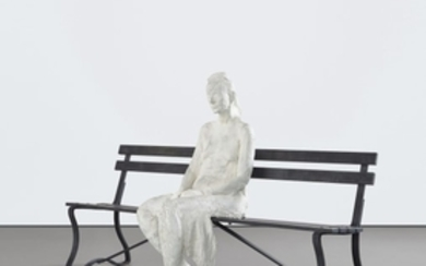 George Segal, Woman with Sunglasses on Bench