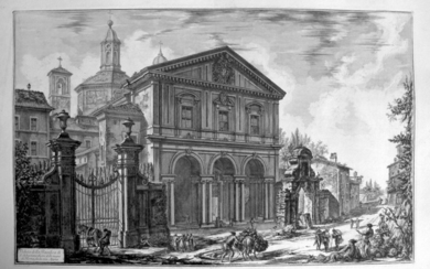 Piranesi, Giovanni: THE BASILICA OF S. SEBASTIANO. Year 1750