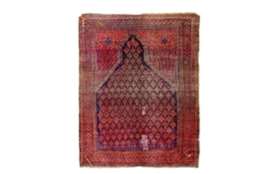 AN ANTIQUE BALOUCH PRAYER RUG, NORTH-EAST PERSIA