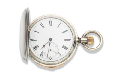 Bearing the signature Pateck & Cie. A silver keyless wind repeating full hunter pocket watch