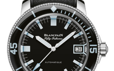BLANCPAIN FIFTY FATHOMS BARAKUDA FOR ONLY WATCH This unique timepiece reinterprets the aesthetic codes of the original from the late 1960s, while making the most of the technical innovations stemming from Blancpain's longstanding experience.,