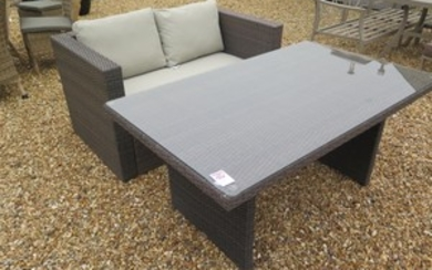 A Bramblecrest Rio two seater sofa and a casual dining table
