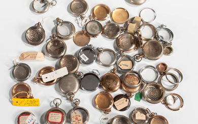 Large Collection of Hamilton and Other Assorted Pocket Watch Cases