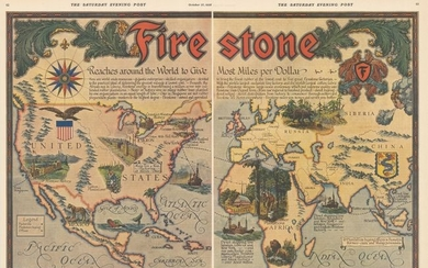 """""""[On 2 Sheets] Firestone Reaches Around the World to Give Most Miles per Dollar"""""""
