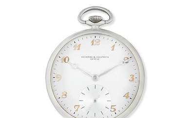 Vacheron & Constantin. A rare and lightweight aluminium keyless wind open face pocket watch