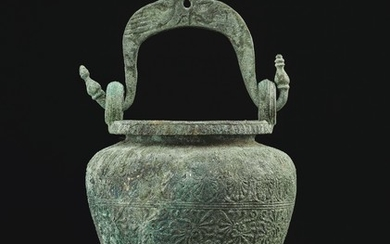 AN ETRUSCAN BRONZE SITULA, CIRCA LATE 5TH-EARLY 4TH CENTURY B.C.