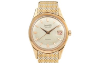 Eberhard. A Fine Yellow Gold Centres Seconds Wristwatch with Date