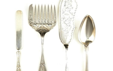 American silver flatware articles, retailed by Tiffany & Co (10pcs)